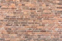 Masern Sie alte Backsteinmauer, horizontale Anordnung für alte Maurerarbeit Stockbilder