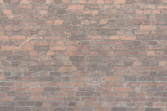 Masern Sie alte Backsteinmauer, horizontale Anordnung für alte Maurerarbeit Lizenzfreie Stockfotos