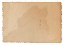 Masern Sie altes Papier mit Spuren des Verschleisss und der Flecke Stockfotos