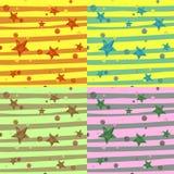 Masern Sie dekoratives abstraktes helles Hintergrundmuster geometrisches Tapeten-Beschaffenheitsgewebe Gesetzter Sternchen-Verein vektor abbildung