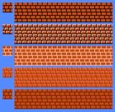 Masern Sie für platformers Pixel-Kunstvektor - Backsteinmauer Stockbilder