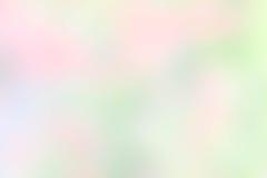 Masern Sie gelbe der Unschärfe grüne rosa und weiße Mischungsfarbpastellnatur Lizenzfreie Stockfotografie