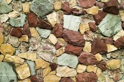 Masern Sie Kunststeinwanddekoration auf dem Straßenlegen Lizenzfreie Stockfotos