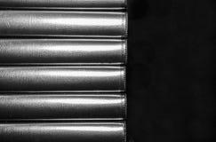 Masern Sie modernen Hintergrund des Designs mit horizontalen Streifen im Schwarzweiss-Plan Stockfotos