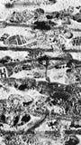 Masern Sie Schnee auf Asphalt lizenzfreies stockfoto