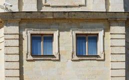 masern Sie Steinwand Gatchina-Palast, errichtet von Pudozh -, das um den Dorfbezirk Pudost, 17. Jahrhundert produziert wird Lizenzfreie Stockfotografie