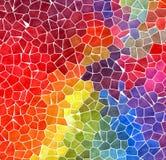 Masern steinige Mosaikplastikfliesen des Naturmarmors Hintergrund mit weißem Bewurf - farbenreiches raibow Spektrum lizenzfreies stockfoto