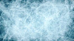 Masert blaues Eis Eisbahn Weiße Schneeflocken auf einem blauen Hintergrund Obenliegende Ansicht Illustration natur stock abbildung