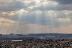 Maseru huvudstaden av Lesotho royaltyfri foto