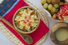 Masfouf - traditional Tunisian sweetened couscous Royalty Free Stock Photo