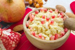 Masfouf - traditional Tunisian sweetened couscous Stock Photos