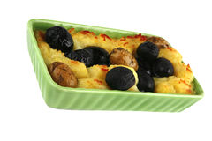 Mash with olives Royalty Free Stock Image