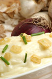 Mash potato with garlic in a bowl Royalty Free Stock Photo