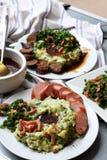 Mash potato with kale Stock Photo