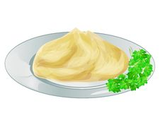 Mash potatoes Royalty Free Stock Images