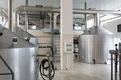 Mash vats in the brewing priduction Royalty Free Stock Image