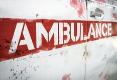 Masha and the Bear ambulance stock images
