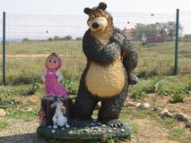 Masha et l'ours Photos libres de droits