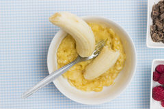 Mashed Banana Royalty Free Stock Photo