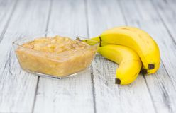 Mashed Bananas selective focus royalty free stock photography