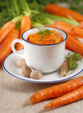 Mashed carrots in the bowl Royalty Free Stock Photo