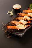 Mashed garlic prawns Stock Photography