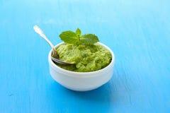 Mashed green peas Stock Photos