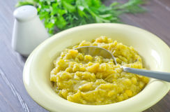 Mashed mung beans Stock Photography