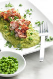 Mashed peas Stock Photography