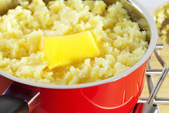 Mashed Potato and Butter Royalty Free Stock Photo