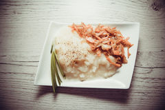 Mashed potato with carrot Royalty Free Stock Photos