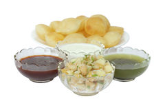 Mashed potato and chickpeas stuffing for panipuri Royalty Free Stock Image