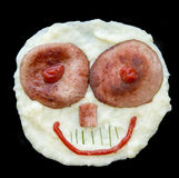 Mashed potato face Royalty Free Stock Photo