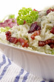 Mashed potato with fat bacon Royalty Free Stock Photography