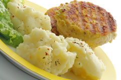 Mashed Potato and Meat Rissoles Stock Images