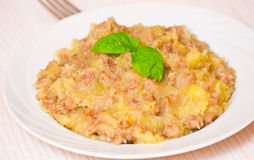 Mashed potato with minced meat Stock Photography
