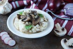 Mashed potato with mushroom gravy Royalty Free Stock Photos