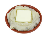 Mashed Potato With A Pat Of Butter Stock Photo