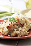 Mashed potato with peeled barley Stock Images