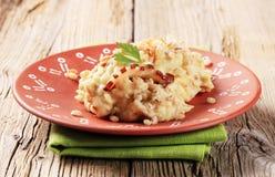 Mashed potato with peeled barley Royalty Free Stock Photo