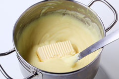 Mashed potato in a pot Royalty Free Stock Photo