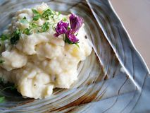 Mashed potato with rosemary Royalty Free Stock Images