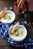 Mashed potato soup with cheese Royalty Free Stock Photos