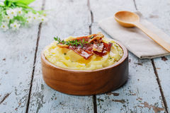 Mashed potatoes with bacon Stock Image