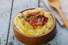 Mashed potatoes with bacon Royalty Free Stock Photo