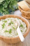 Mashed potatoes and cabbage closeup Royalty Free Stock Photography