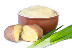 Mashed potatoes with green onions Royalty Free Stock Photo