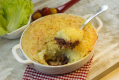 Mashed potatoes pie Royalty Free Stock Photography