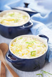 Mashed potatoes in small pots Royalty Free Stock Image