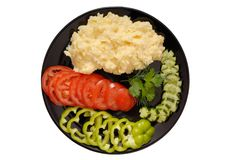 Mashed potatoes and  vegetables Royalty Free Stock Images